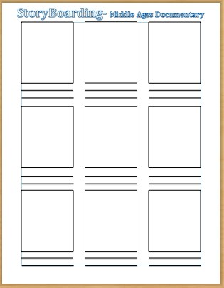 Storyboard Sample In Word. Kindness Storyboard Template Sample