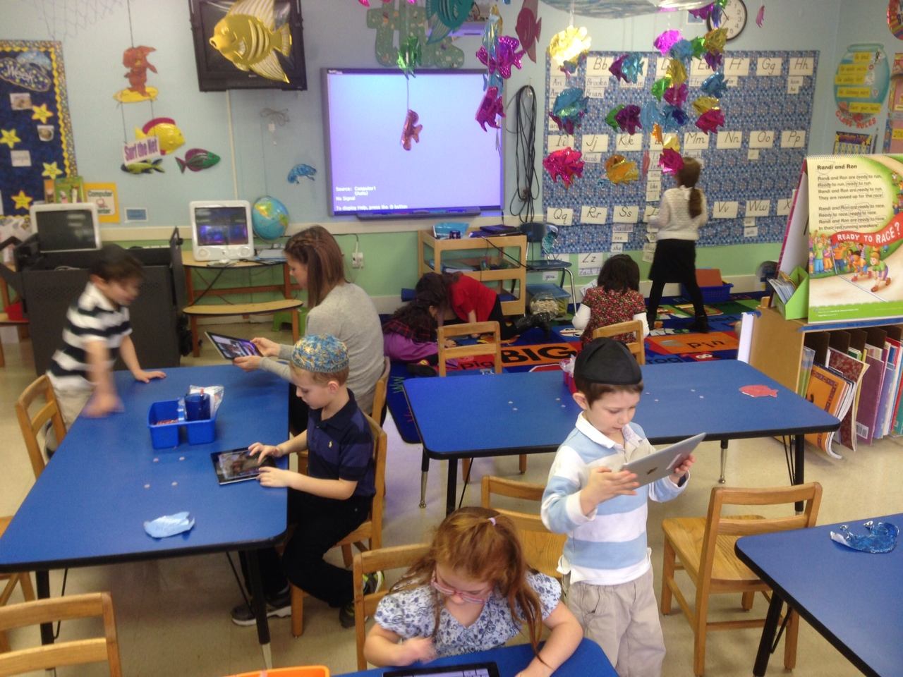 Modern Day Classroom Technology ~ Kindergarteners gaining independence pride increased