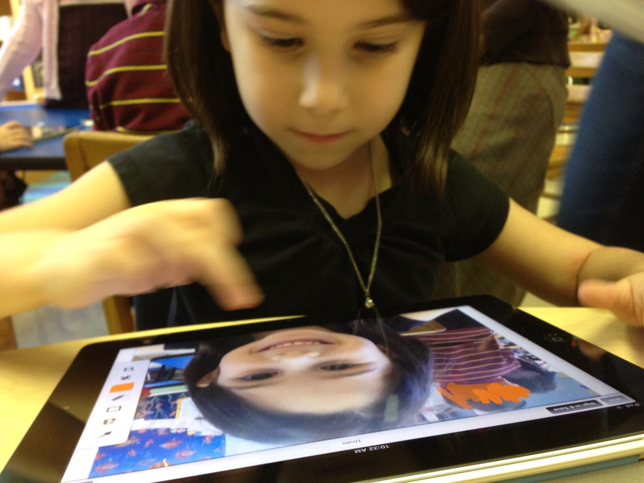 kids using the iPad