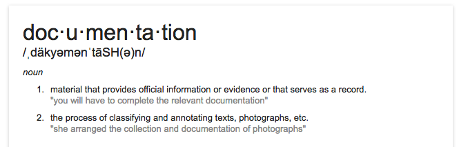 definition_of_documentation